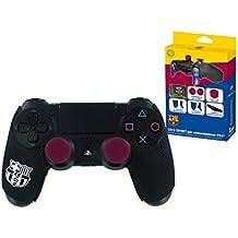 Subsonic - Kit e-sport para mando Playstation 4 - Grips de goma para mando PS4 con grips de precisión y gatillos quickfire - Licencia oficial FCB FC Barcelona