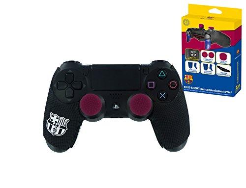 Kit de deportes electr�nicos para controladores PS4 FC Barcelona. Pu�os para manijas de joystick (x2), pu�os de joystick (x2), pu�os de precisi�n, (x1), pu�os de confort (x2), pu�os Quickfire (x2), adhesivo de barra de luces (x1)