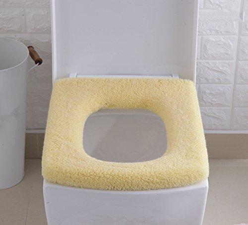 Yunyao 2 pezzi tappetino wc coprisedili wc coprisedile wc universale ideal standard spessi e caldi da bagno confortevoli e lavabili elasticizzati (giallo)