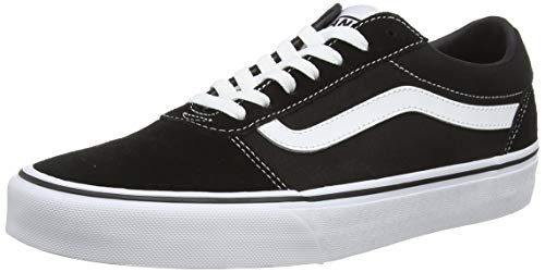 Vans Ward Canvas, Men's Low-Top Sneakers, Black (Suede/Canvas) Black/White C24), 10 UK (44.5 EU)