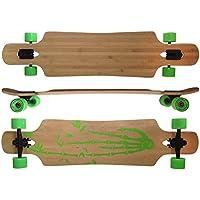 Deluxe Longboard Maxofit Bamboo Race 19004, 107 Cm, 9 Stratti Di Acere Canadese, Drop Through, Azione Fino A Esaurimento Della Merce - Azione Longboard Skateboard