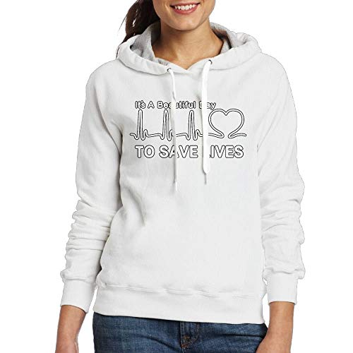It's A Beautiful Day to Save Lives Womens Simple Style Hoodie Sweatshirt Hoodie Pullover Toy Machine Hoody
