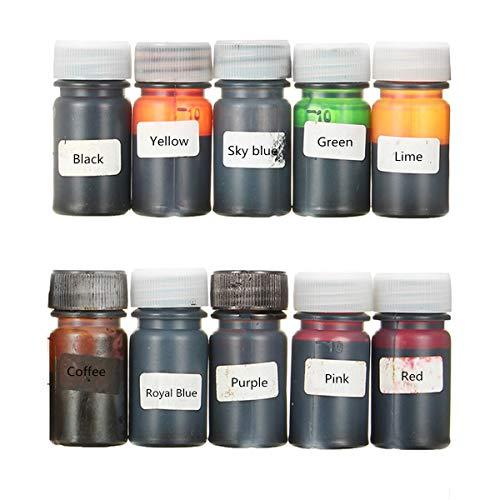 EsportsMJJ 10 Colori A Resina Epossidica Resina Uv Tintura Resina Colorante Liquido Pigmento Mix Colore Fai Da Te Arte Artigianato