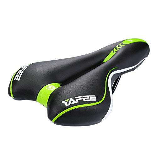 Babimax Gel Fahrradsattel Fahrradsitz Wasserdicht PU für Mountainbike Trekking Tourensattel Rennrad (Grün)