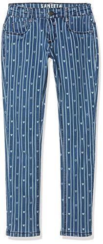 Sanetta Mädchen Trousers denim-125165 Jeans, Blau (Funky Blue 9494), 98 (Herstellergröße:098) - Funky-capri-hosen