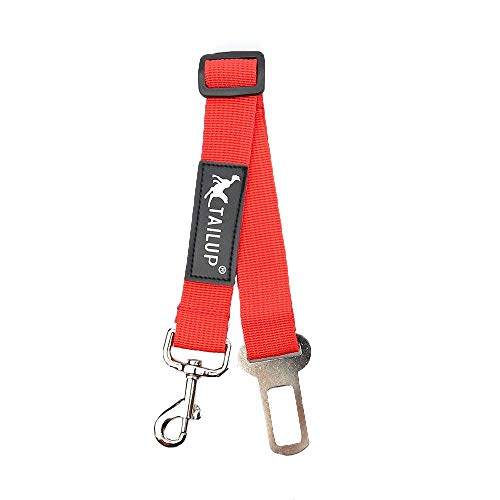 JKRTR Einstellbare Hund Haustier Auto Sicherheitsgurt Rückhalteleine Reiseleine(Rot,S)