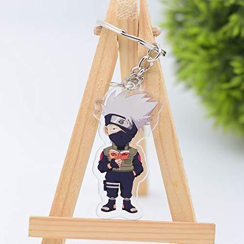 TUDUDU 2019 Naruto Keychain Sasuke/Itachi/Kakashi Double Sided Acryl-Key-Kette Pendant Anime Zubehör Cartoon Key Ring (Naruto-ring Kette)