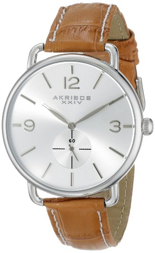 Akribos XXIV Women's AK658OR Essential Stainless Steel Watch with Leather Strap