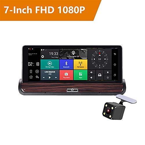 7-Zoll-Mittelkonsole fahren Recorder 3G Dual Lens Driving Recorder mit Stereo-GPS Bluetooth WiFi-Autoradio Einparkhilfe G-Sensor