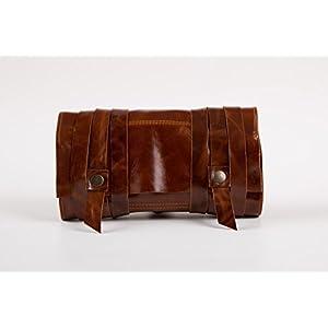 Premium Leder Handgefertigt Pfeifentasche Drehertasche