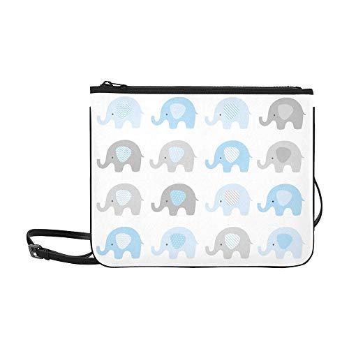 WYYWCY Lindo conjunto de elefantes Elefantes Personalizados Bolso de embrague delgado de...