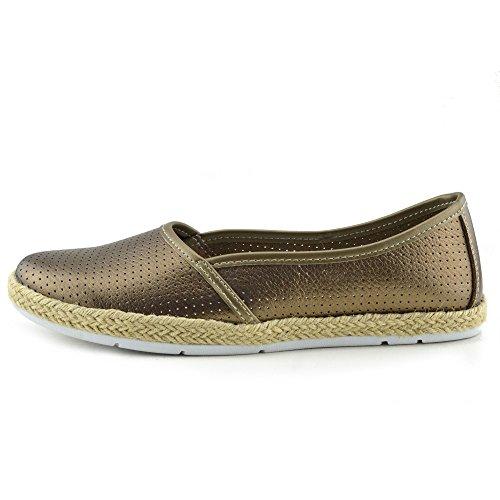 Kick Footwear - Donna a Piedi in Pelle Naturale Slip on Scarpe Casual Marrone