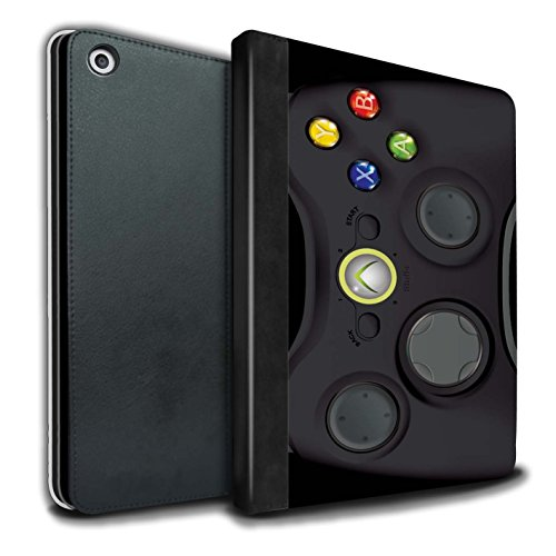 STUFF4 PU-Leder Hülle/Case/Brieftasche für Apple iPad 9.7 (2017) tablet / Schwarz Xbox 360 Muster / Spielkonsolen Kollektion (Xbox 360 E Fall-haut)