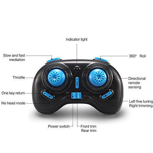 JJRC H36 MINI Drone 2.4G 4CH 6 Achsen-Gyro Headless Modus CF-Modus One Key Return RC Quadcopter RTF (Blau) - 8