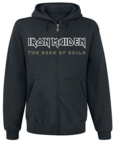 Iron Maiden Book Of Souls Exploding Head Kapuzenjacke schwarz L (Hoodie Iron Maiden)