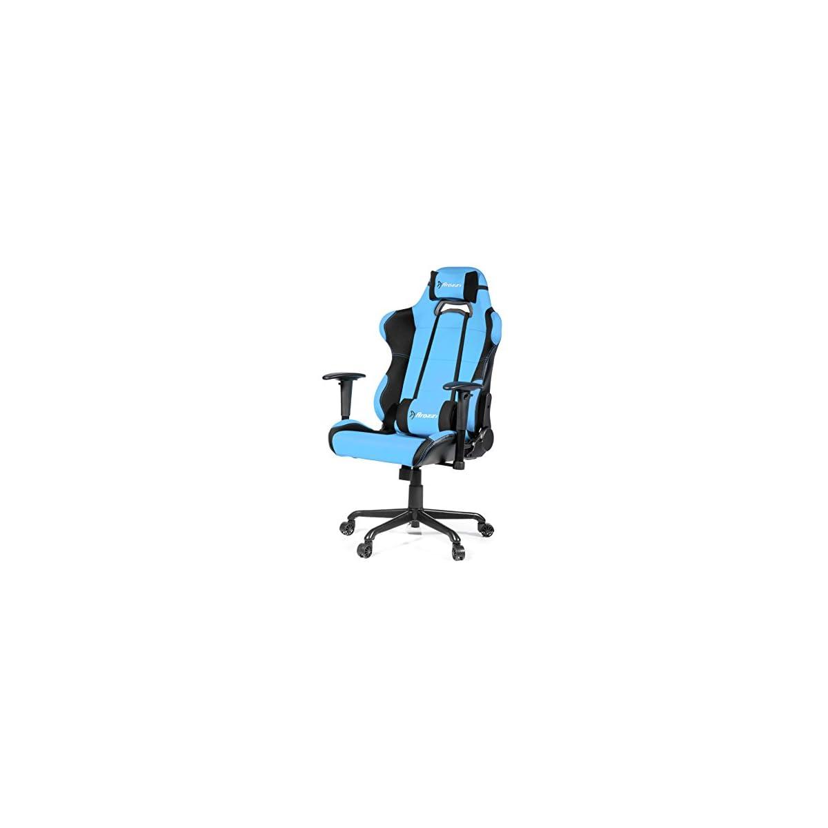 41xRYM%2BhOIL. SS1200  - Arozzi Torretta XL - Silla (Asiento Acolchado, Respaldo Acolchado, Azul, Azul, Negro, Tela)