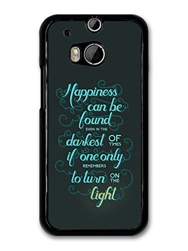 Happiness Can Be Found Harry Potter Light Quote carcasa de HTC One M8