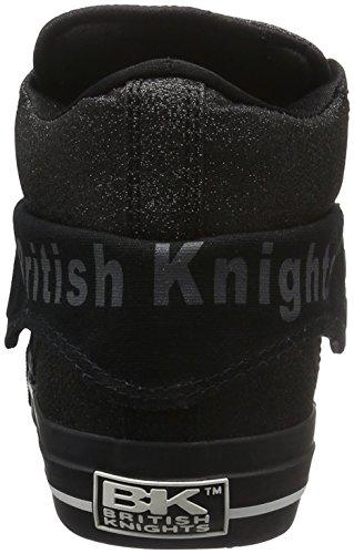 British Knights - Roco, Scarpe da ginnastica Unisex - Adulto Nero (Schwarz (Black/Black 01))