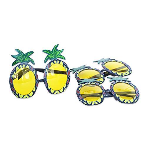 Paare Mädchen Kostüm - Ruiting Ananas Gläser 3Pairs Hawaii Luau Tropische Brillen-Sommer-Party Kostüm Zubehör Ananas Sonnenbrillen
