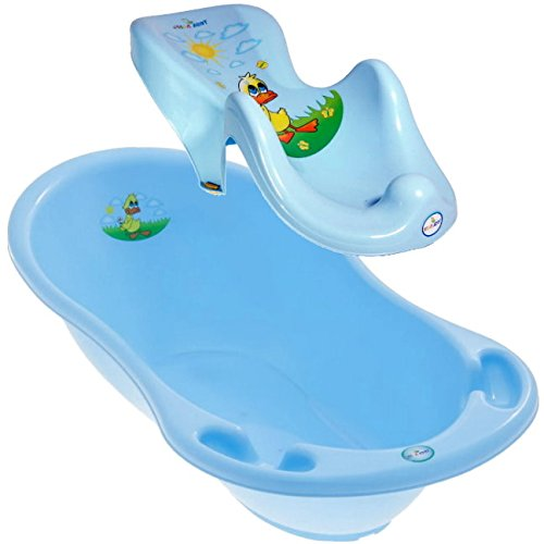 lux-baby-badeset-ente-grosse-babybadewanne-102cm-badesitz-farbe-blau