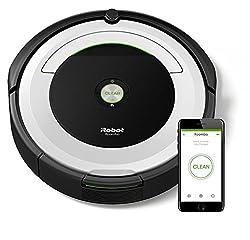 iRobot Roomba 691 Saugroboter (reinigt alle Hartböden und Teppiche, Dirt Detect Technologie, 3-Stufen-Reinigungssystem, WLAN-fähig und per App programmierbar) silber