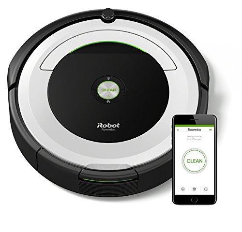 *IRobot Roomba 691 Saugroboter (hohe Reinigungsleistung mit Dirt Detect, reinigt alle Hartböden und Teppiche, geeignet bei Tierhaaren, WLAN-fähig) silber*
