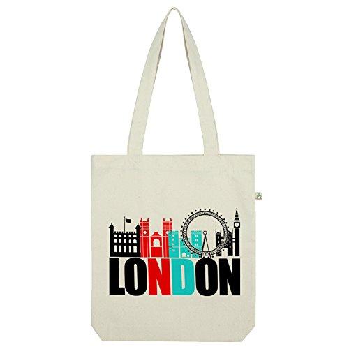Land Swag (Twisted Envy London berühmten Land Abdrücke Tasche Weiß weiß)