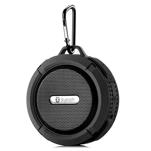 MIJIN Drahtlose Bluetooth 4.0 Stereo Portable Speaker eingebaute mic Schock-Resistance IPX6 Waterproof Speaker mit Bass,Black (Surround-sound-system 1000w)