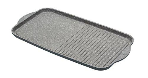 Kitchencraft Masterclass-Plancha de aluminio fundido antiadherente apto para inducción, 51x 27cm (20x 10,5cm), color gris