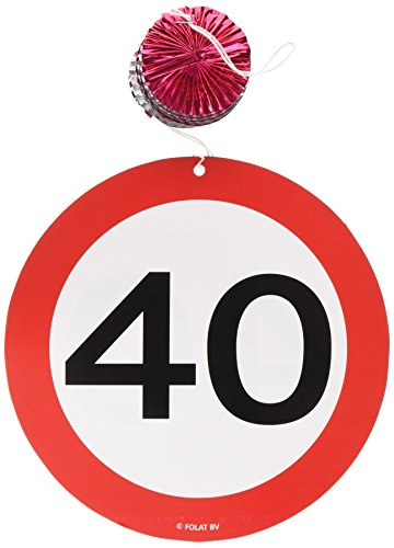 Espirales Garland St. 3 carretera signo de número 40 cumpleaños espirales Rotor
