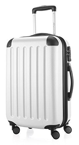 HAUPTSTADTKOFFER - Spree - Bagaglio a mano Valigia Trolley da Cabina rigido TSA ABS 4 ruote, 55 cm, 42 litres, Bianco