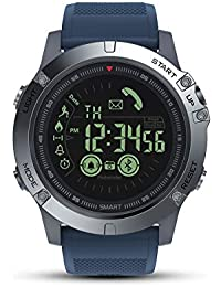 Smartwatch Deporte Hombre,GOKOO S10 Reloj Inteligente Hombre Fitness Tracker para Deportes con Contadores de Calorías Cronómetro Notificación de Mensajes para Android y iOS (Azul)