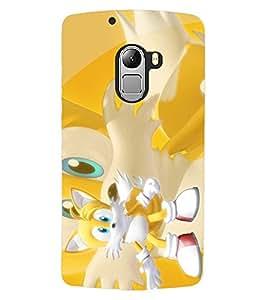ColourCraft Cute Cartoon Cat Design Back Case Cover for LENOVO A7010