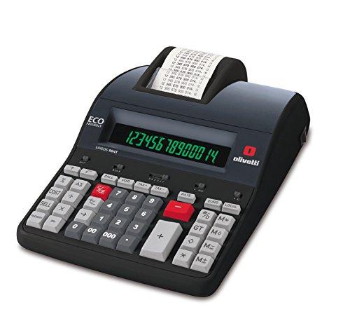 Olivetti Logos 904T Calcolatrice con memoria e stampante termica alfanumerica Nero 205...