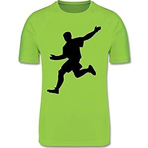 Sport Kind – Fußballer am Ball – atmungsaktives Laufshirt/Funktionsshirt für Mädchen und Jungen