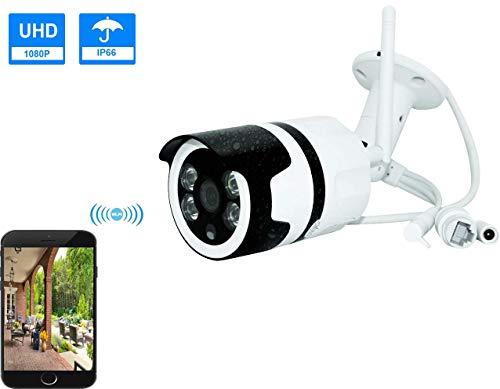 Ctvison 1080p hd telecamera senza fili per interni / esterni senza fili telecamera di sorveglianza cctv wifi con servizio cloud ip66 visore notturno ir a due vie impermeabile per android / ios / pc