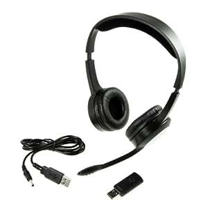 Sharon Méq PC 31 Funk Hifi-Stereo Headset/ CD Qualität mit digitaler 2,4 GHz wireless Übertragung, rauschfrei/ 10m Reichweite/ wiederaufladbar / Kopfhörer + Mikrofon + USB Wireless-Stick (Macbook Air Macbook Pro iMac mit Mac OS Lion Leo