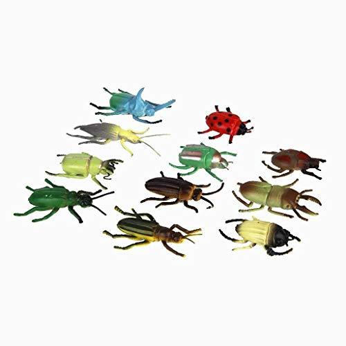 Hilai Kinder Kunststoff Insekt Käfer Toy Party Tricks Setzen der 12pcs Multi-Color