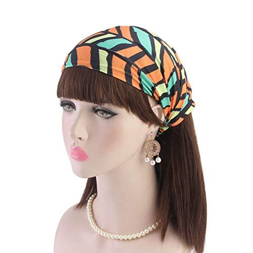 Lurrose 1 UNID Diadema Ancha mujer venda elástica diademas geometría de impresión cintas para el pelo turbante sombreros para las mujeres dama deporte