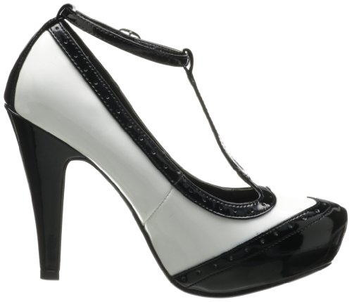 Pin Up Couture Plateau Pumps BETTIE-22 Schwarz-Weiss