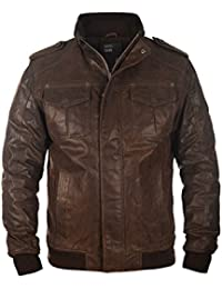 SOLID Cash - Veste en cuir véritable- Homme