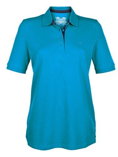 Damen Poloshirt in Piqueé by KLiNGEL Türkis/Marine