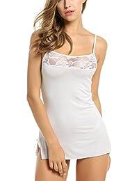 Amazon.es  pijamas mujer tallas grandes - Blanco   Camisones   Ropa ... 055f996666a2