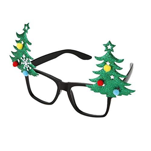 Xmas party decoration christmas glasses frame babbo natale pupazzo di neve decorazioni creative nuovo vestito