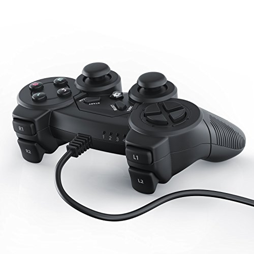 CSL – USB Gamepad für PC inkl. Vibration | neues Modell | Joypad Controller| Plug & Play | LED-Anzeige | Windows 7 / 8 / 10