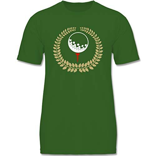 Sport Kind - Lorbeerkanz Golfball Golf-Tee - 122-128 (7-8 Jahre) - Grün - F140K - Jungen T-Shirt