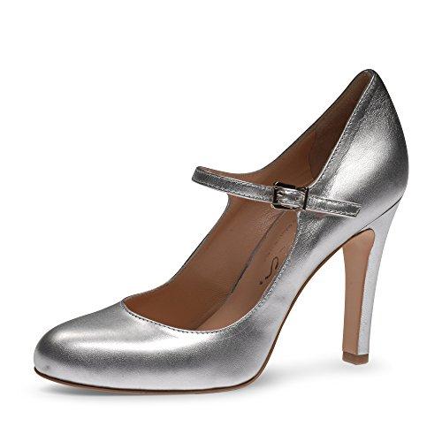 CRISTINA Damen Pumps Glattleder Silber