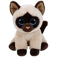 TY - Beanie Babies Jaden, peluche gato siamés, 15 cm (United Labels Ibérica