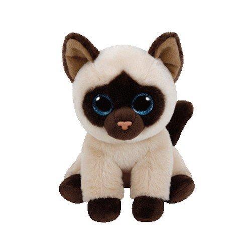 TY - Beanie Babies Jaden, peluche gato siamés, 15 cm (United Labels Ibérica 42129TY)