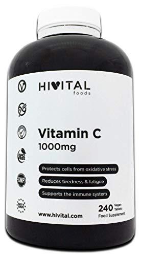Vitamina C 1000 mg | 240 comprimidos (Suministro para 8 meses) |